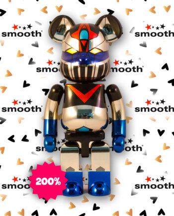 Medicom Toy Chogokin Mazinger Z Plated - Bandai Bearbrick 200%