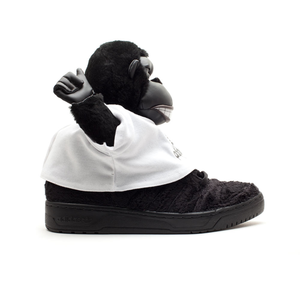 6a76575368cd Adidas Jeremy Scott JS Gorilla Black Limited Edition