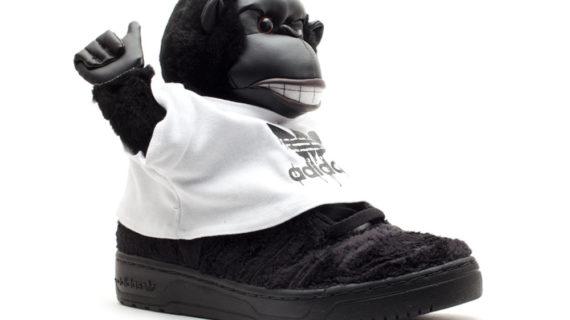 ADIDAS ORIGINALI JEREMY Scott Gorilla (Monkey V24424) Taglia