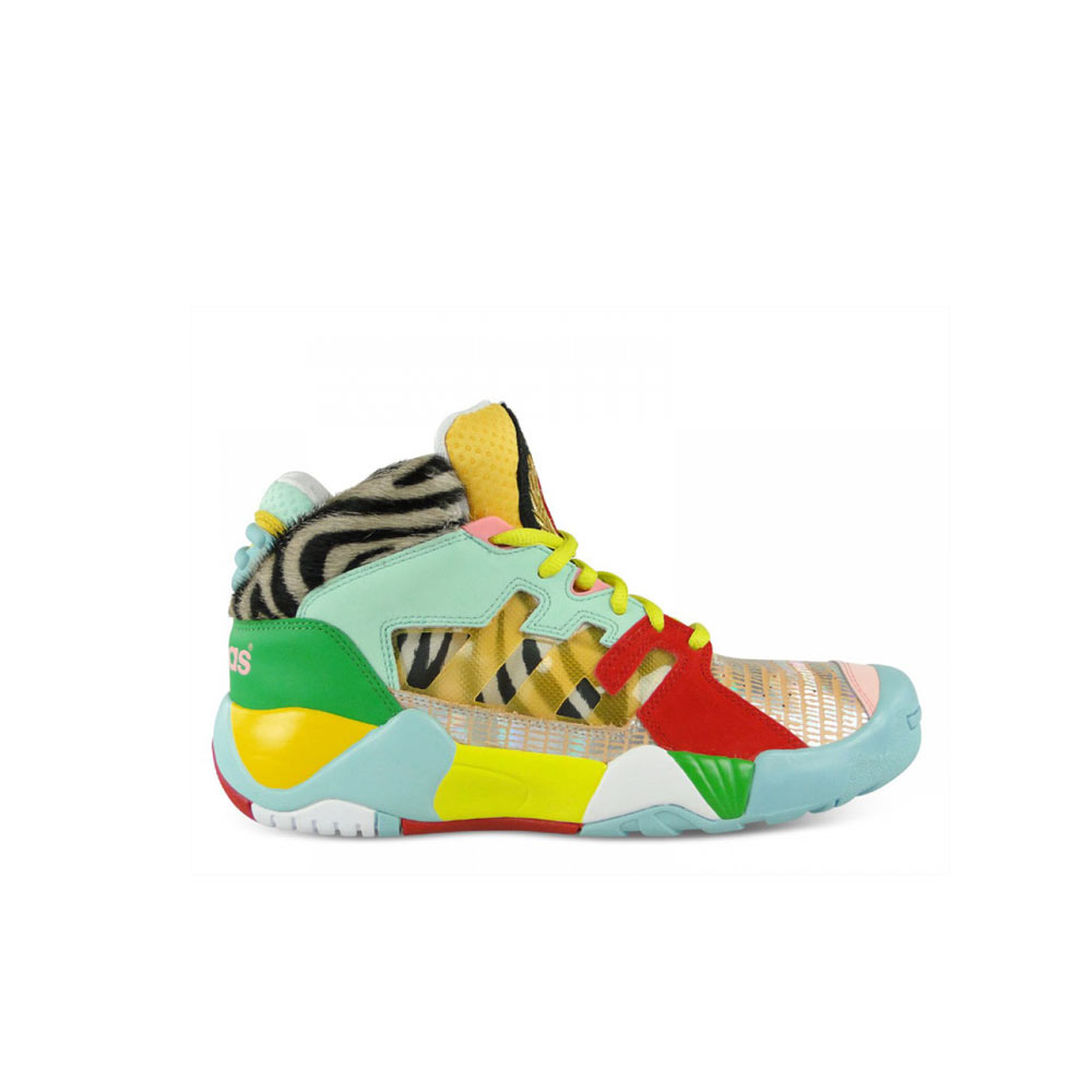 Parásito repetición cocodrilo  Adidas Jeremy Scott ObyO JS Streetball Zebra Q23513