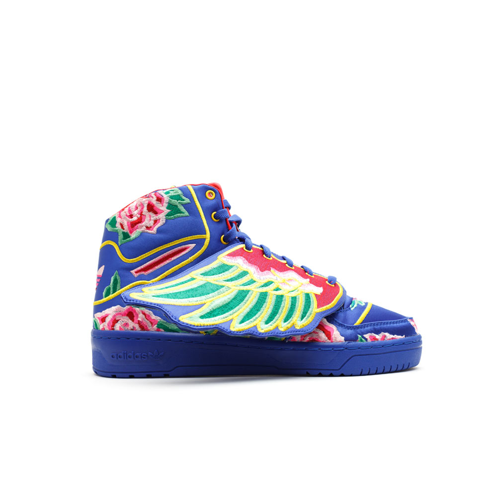 new products 28c49 1908d Adidas ObyO Jeremy Scott Eason Chan Wings Chinese New Year Cobalt
