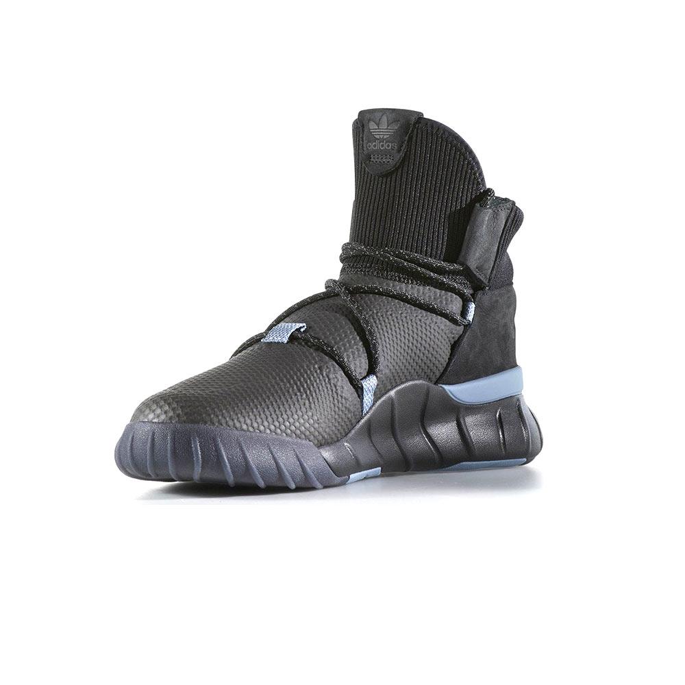 new styles ba8f3 0fc8b Adidas Originals Tubular X 2.0 Primeknit Core Black Grey Four Tactile Blue