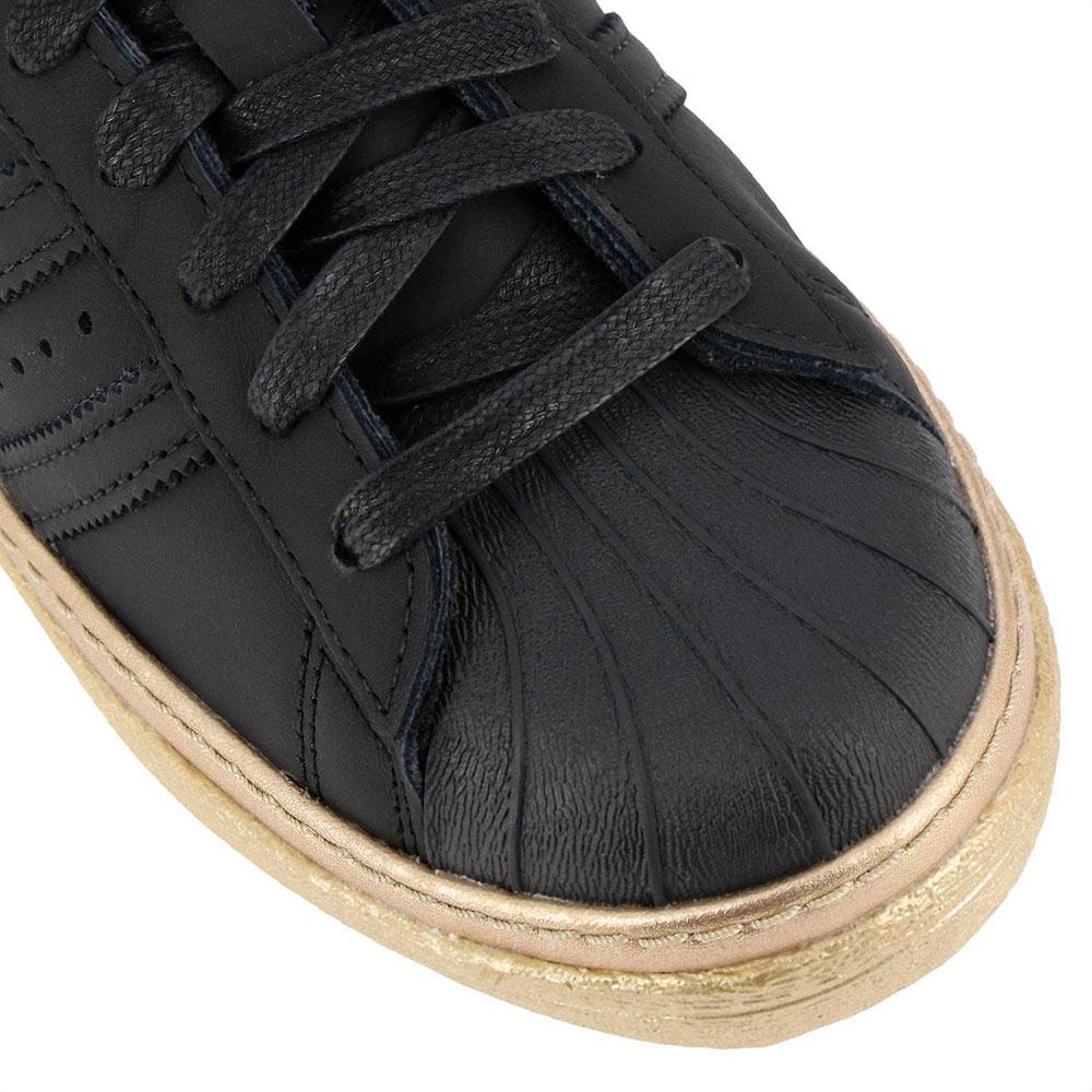 c7bc02b2b98300 Adidas Superstar 80s New Bold Woman Shoes B28041 Black/Gold