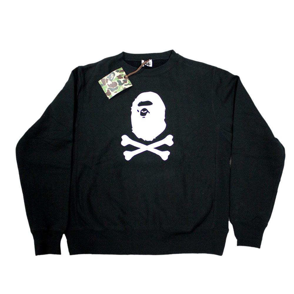 f7808e6ba Bape Crossbones Ape head Sweater felpa A Bathing Ape originale vintage
