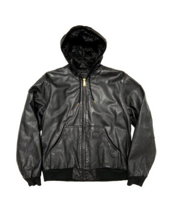 Carhartt Active Leather Jacket 2009 Giaccone in pelle nera