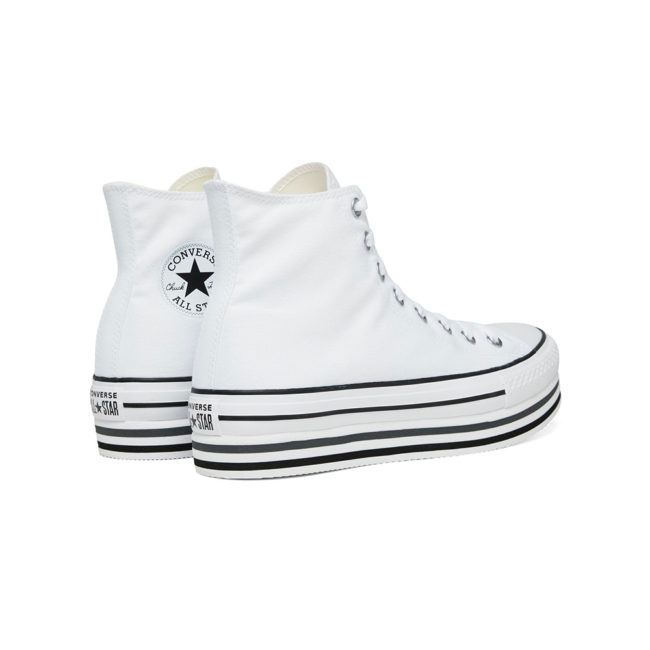 Converse Chuck Taylor All Star Platform Layer Hi 564485C White Black Thunder
