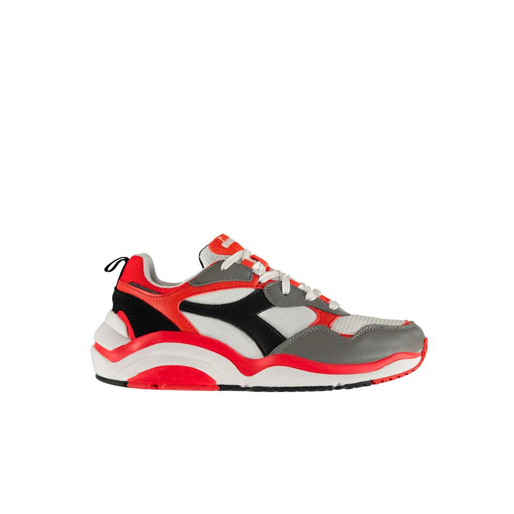 new product 358ab 4c54b Diadora Whizz Run 501.174340 01 C8021 White Black High Risk Red