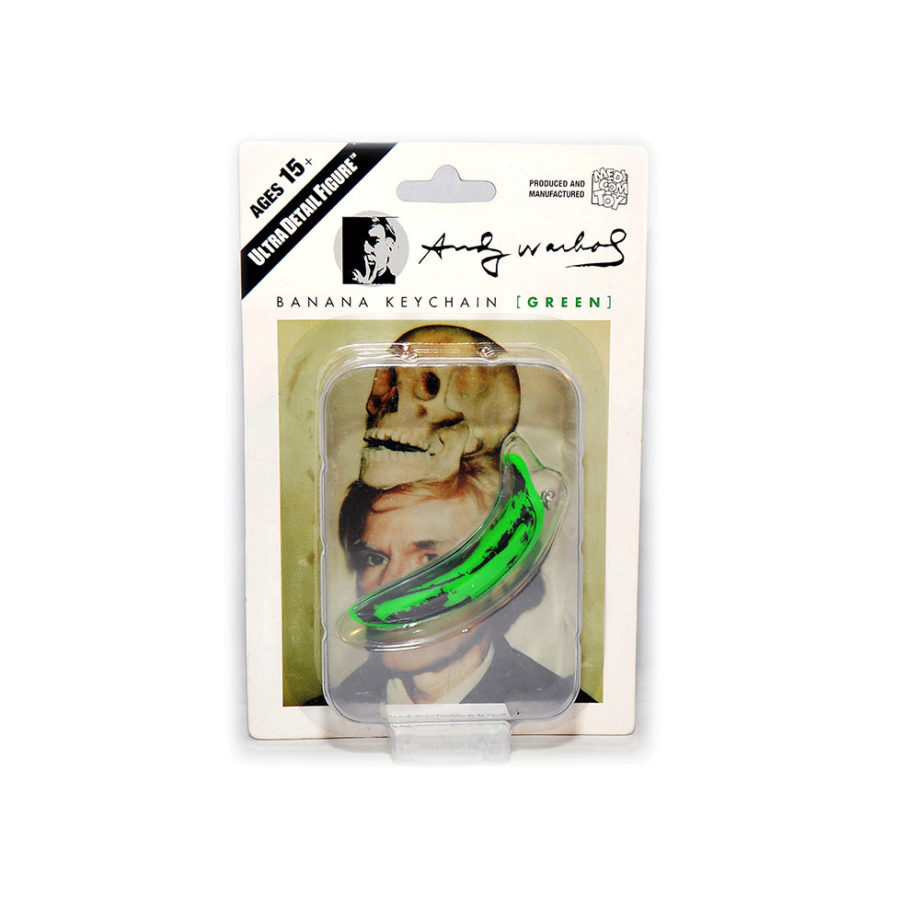 Medicom Toy Andy Warhol banana keychain green
