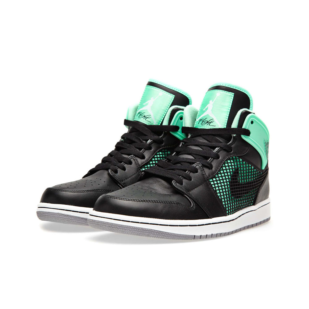 separation shoes 2a72b 4e653 Nike Air Jordan 1 Retro 89 Green Glow Black White Cement Grey
