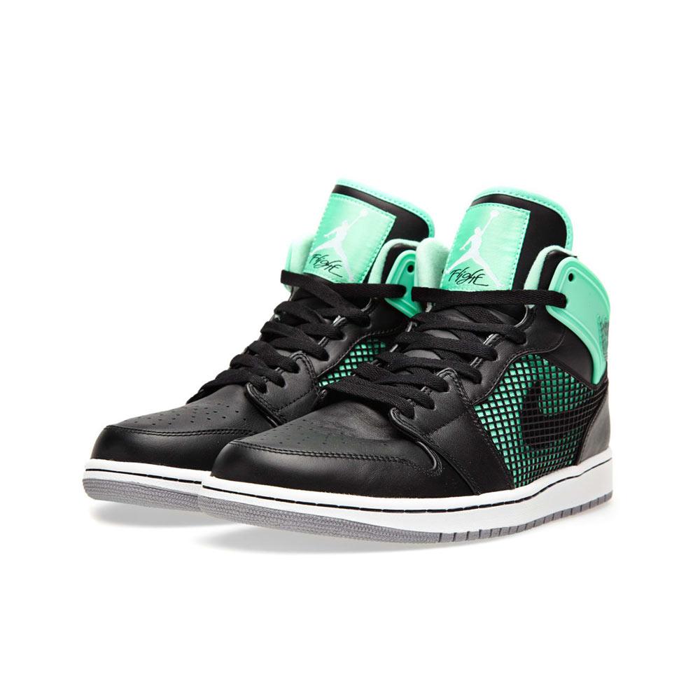 best cheap 01960 a824a Nike Air Jordan 1 Retro 89 Green Glow Black/White Cement Grey