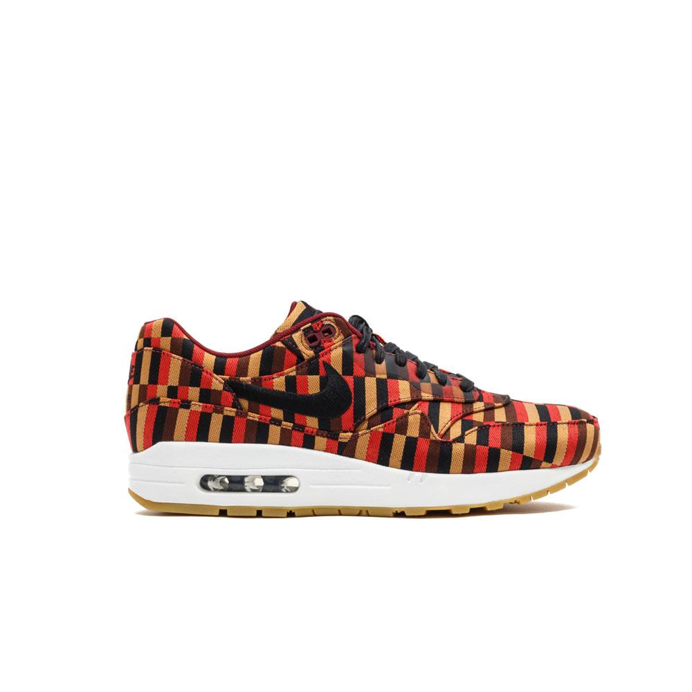 d10cf31bcf Nike Air Max 1 Woven SP Jacquard 651321-106 White/Black/Pomagranate