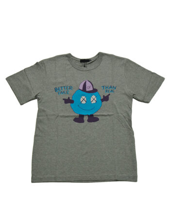 Original Fake Kaws Better Fake Mascot Heather Gray Tee