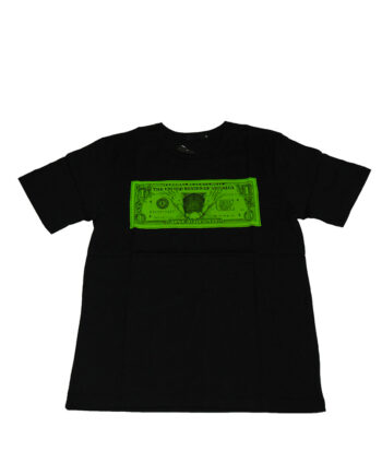 Original Fake Kaws Falling Dollar Tee Black