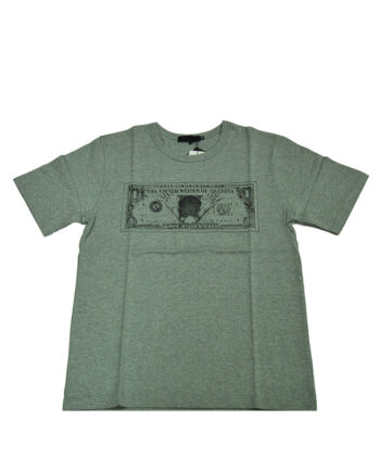 Original Fake Kaws Falling Dollar Tee Gray