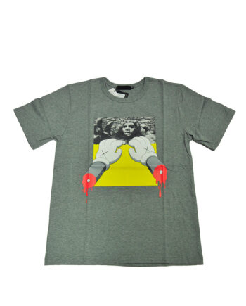 Original Fake Kaws Monster Hands Grey Tee