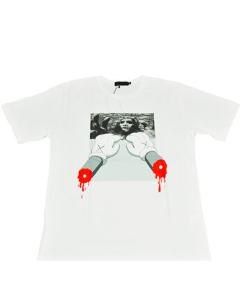Original Fake Kaws Monster Hands White Tee
