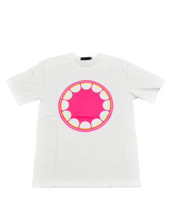 Original Fake Kaws Of Circle Teeth White/Pink Tee