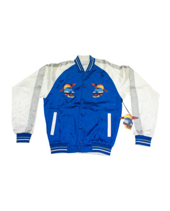 Perks and Mini Sukajan Planet Skull Reversible Jacket Azure