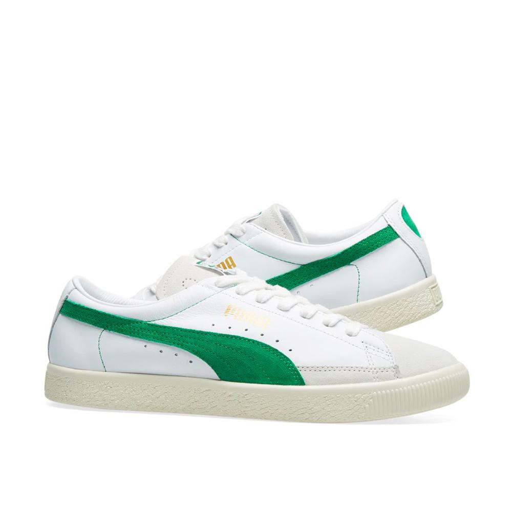 6830dd956facd Puma Basket 90680 Sneakers 36594406 Puma White-Amazon Green
