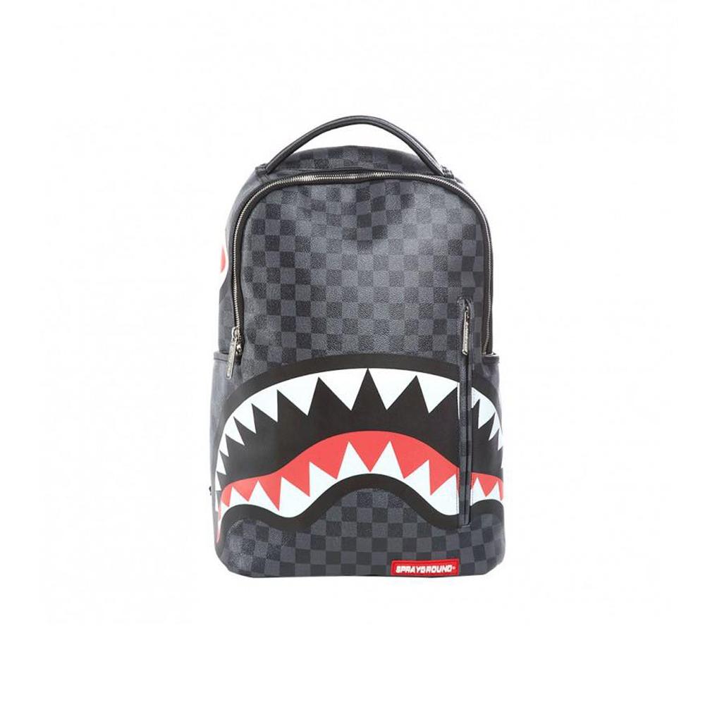 Sprayground Shark In Paris Backpack Black Zainetto In Pelle