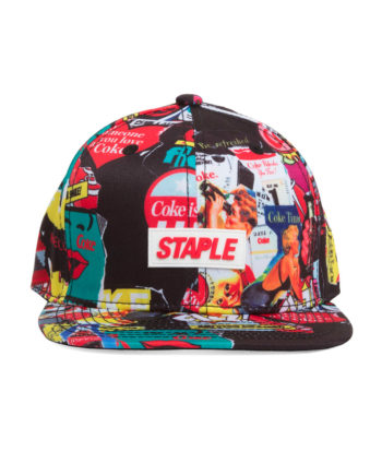 Staple x Coca Cola Coke collage snapback