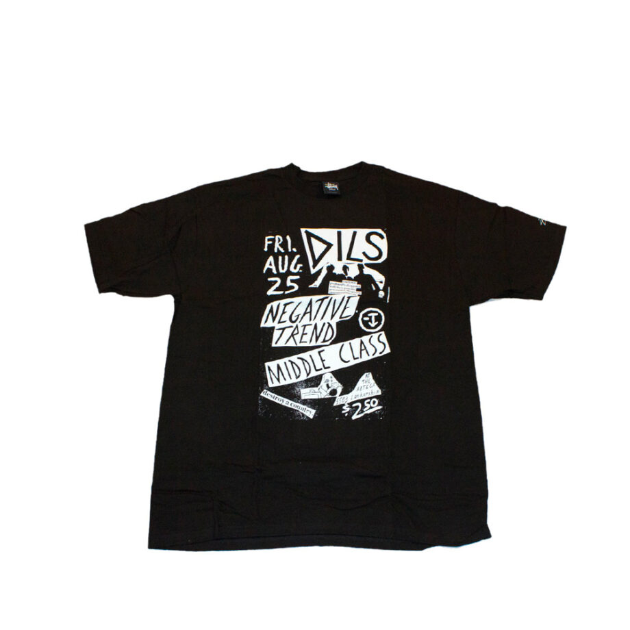 Stussy Customade x Domino Records SS Negative Trend Black Tee Limited Edition SFSC3902137