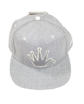 Stussy Chenille Snapback Cap Medium Grey - Cappello Grigio
