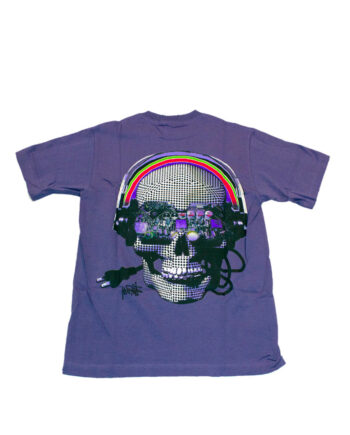 Stussy Cyber Skull Tee Purple Limited Edition 1901108