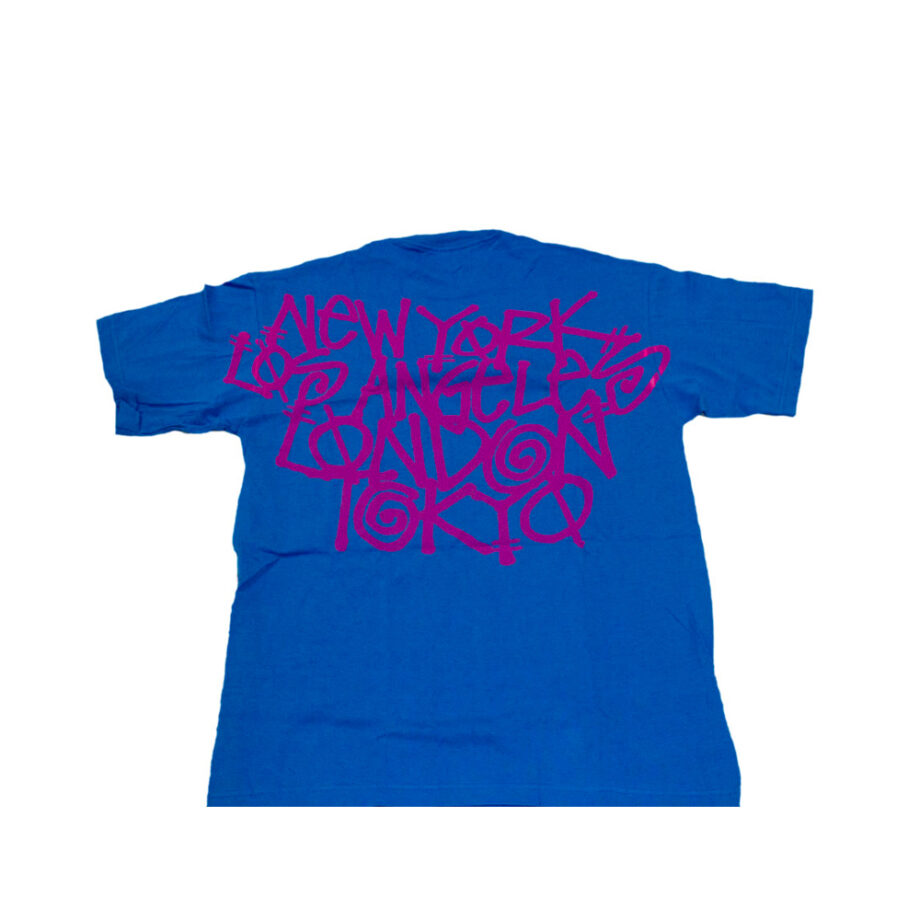 Stussy Gear Crazy City Blue Tee Limited Edition
