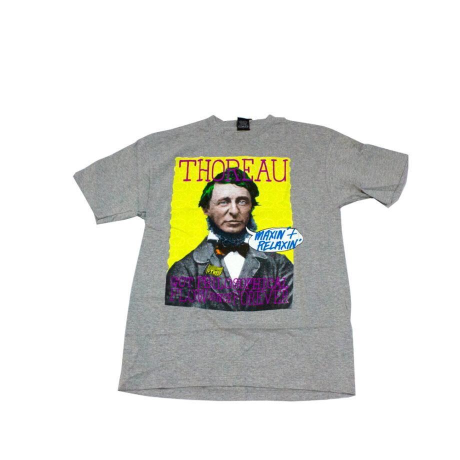 Stussy Thoreau Great Minds Tee Grey Heather 1902168
