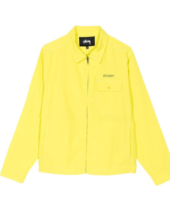 Stussy nylon zip jacket Lemon