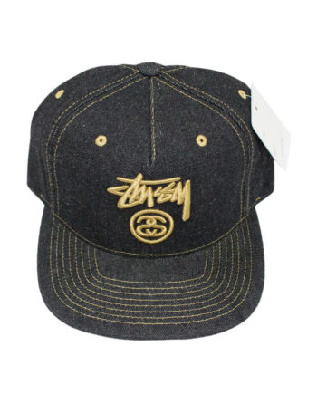 Stussy Stock Lock Denim Cap Black - Cappello Nero