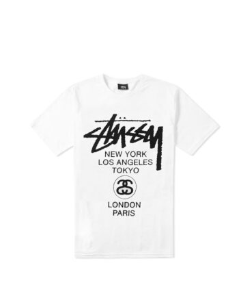 Stussy World Tour SS Tee White 3903142