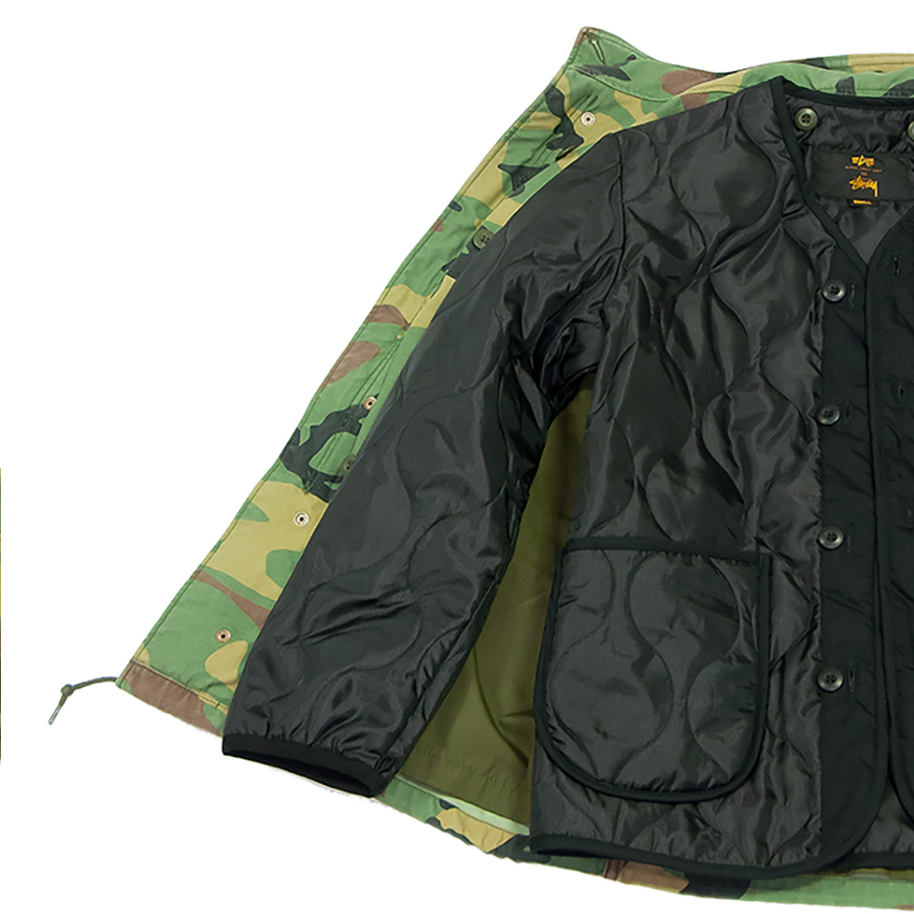 buy popular 6fd5e 64618 Stussy X Alpha Industries M-65 Camo Man Jacket 2016