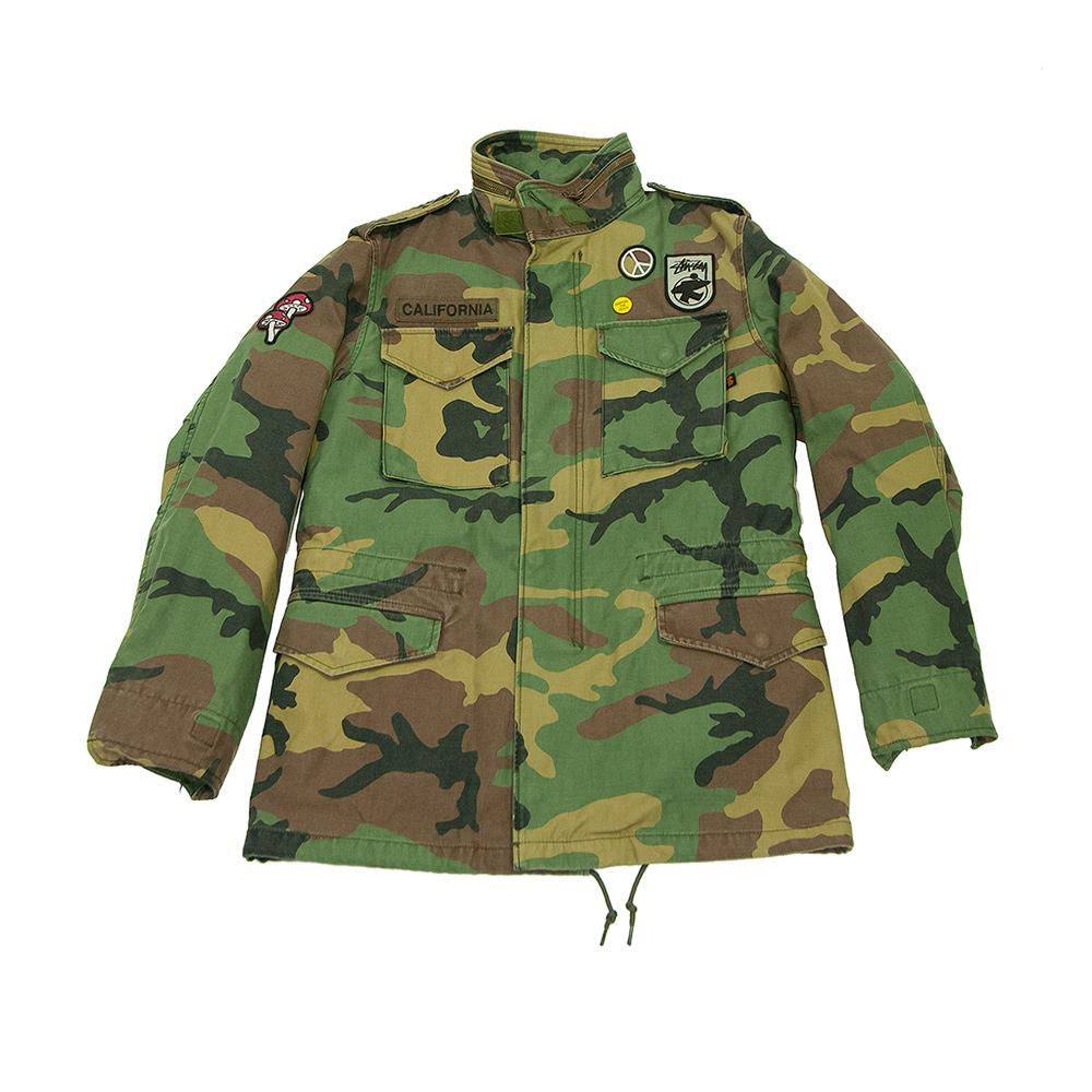 buy popular 1071a 43895 Stussy X Alpha Industries M-65 Camo Man Jacket 2016