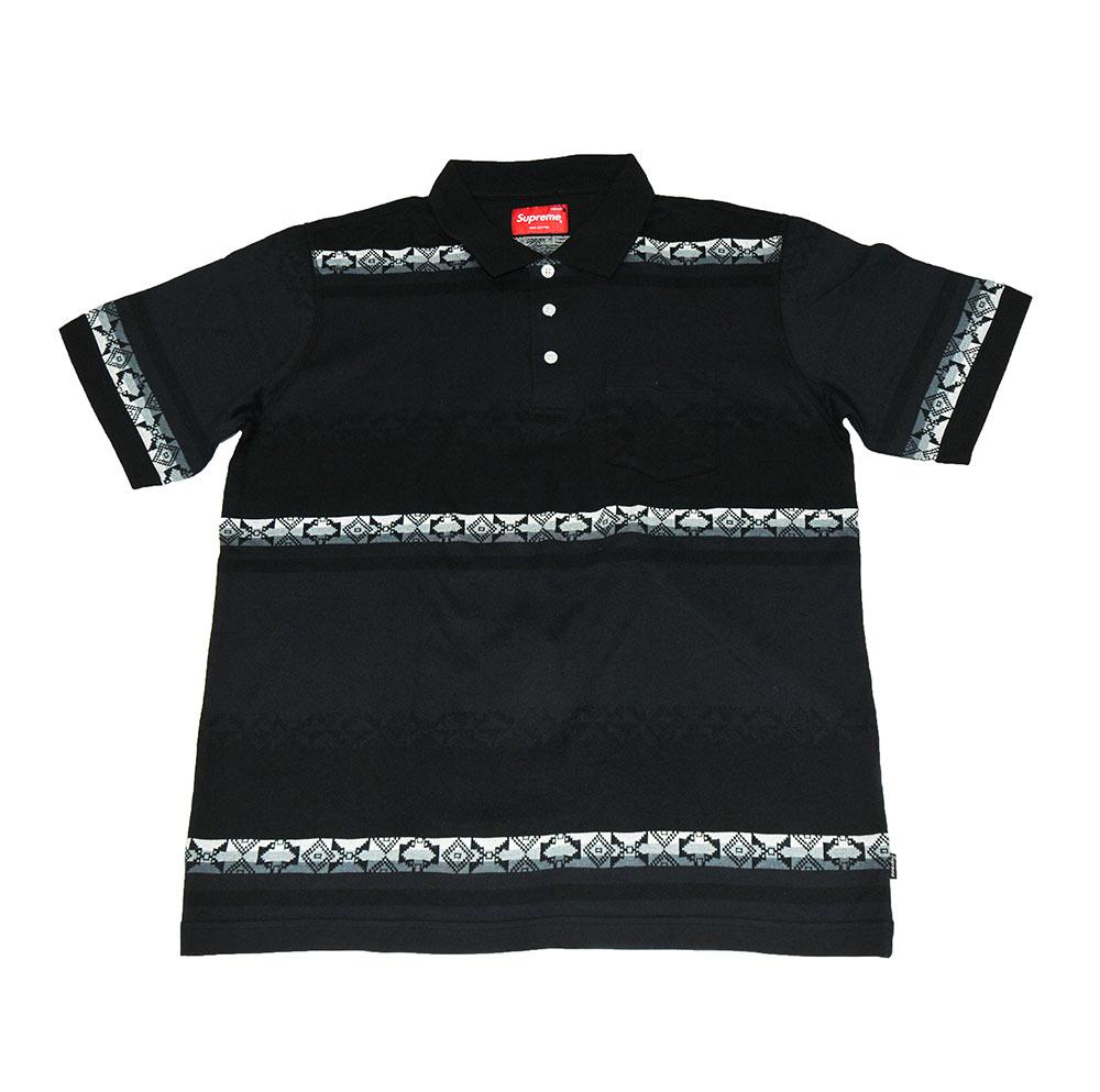 d2f2abdec884 Supreme Vintage Polo Jacquard Black size M 100% cotone short sleeve