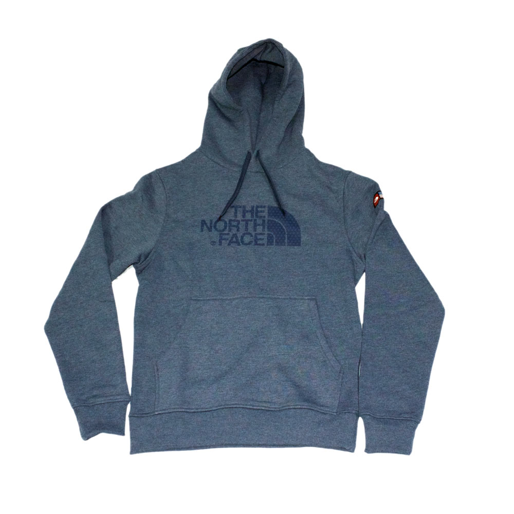 4738ed3da533 The North Face IC Logo Pullover Hoodie Cosmic Blue Heather Usa Flag