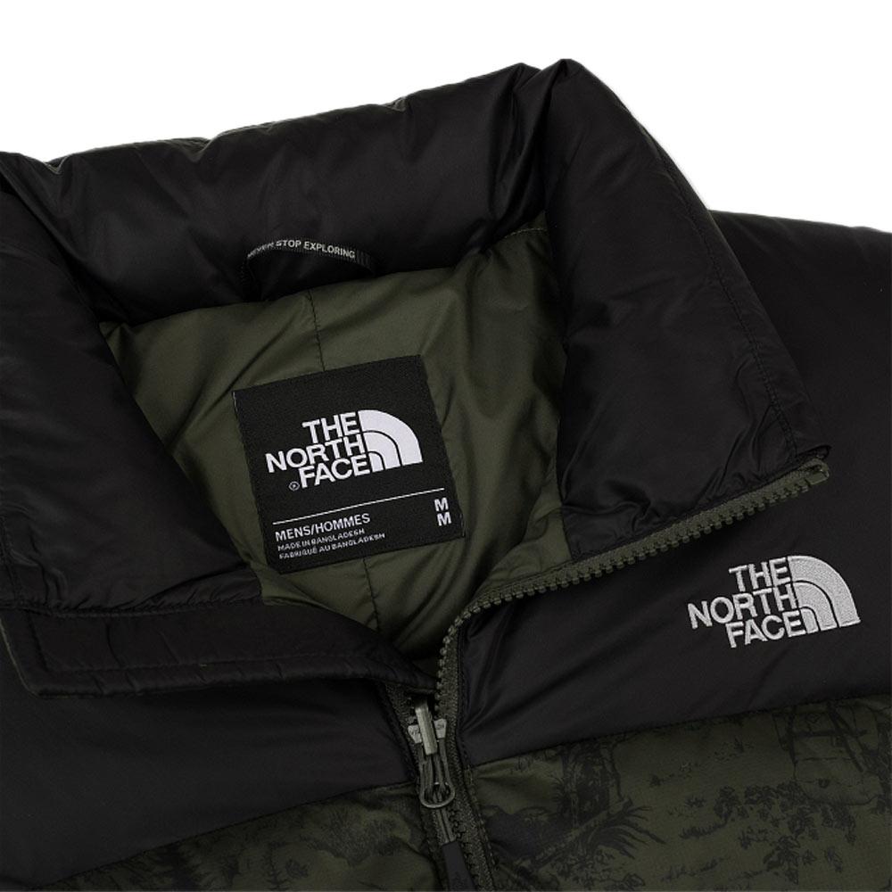 719f3e38752 The North Face Nuptse 2 Jacket Green Toile De Jouy Black Ink