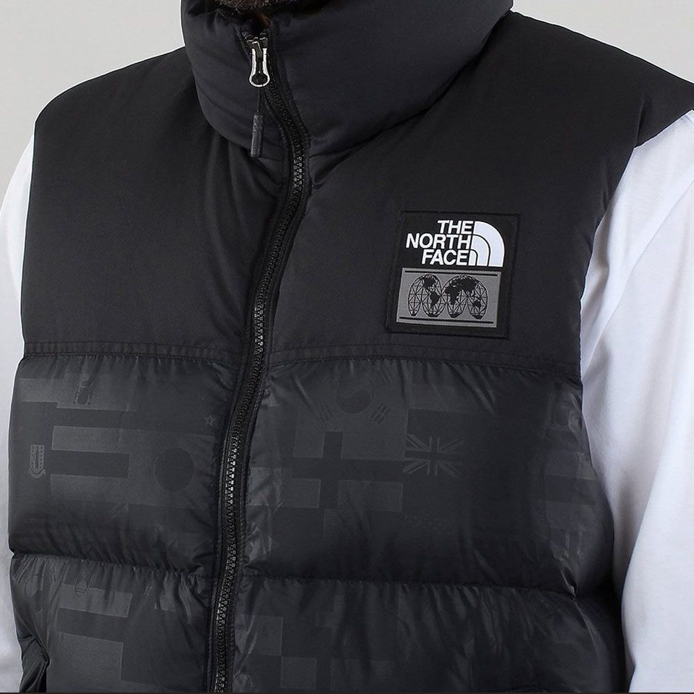 3e17cc61b The North Face Nuptse Vest TNF International Collection Black Flag Print