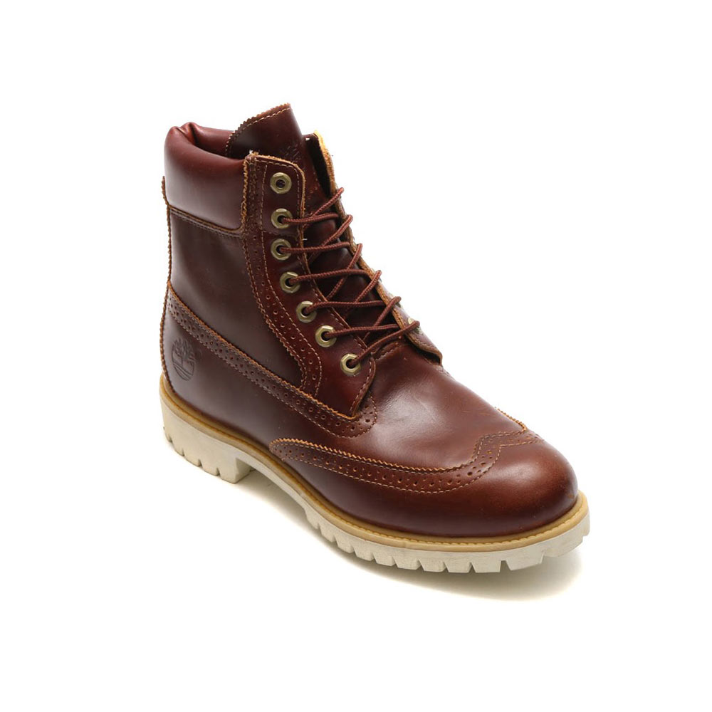 Timberland 6 inch Brogue Boots Chestnut Quartz collection limited edition