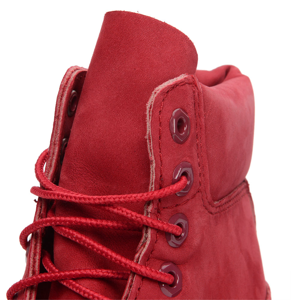 Timberland 6 inch red release collection A1149 Nubuck