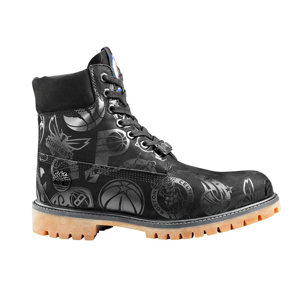 Timberland X Nba 6 Inch Premium Boot 0A24BA001 Black Nubuck