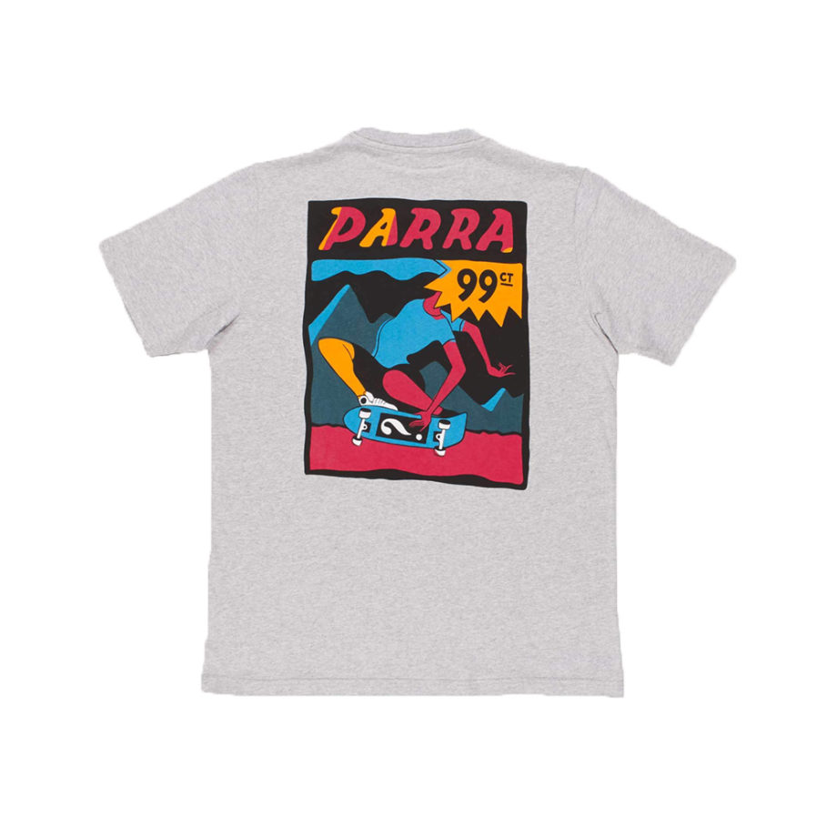 By Parra Indy Tuck Knee T-Shirt Ash Grey