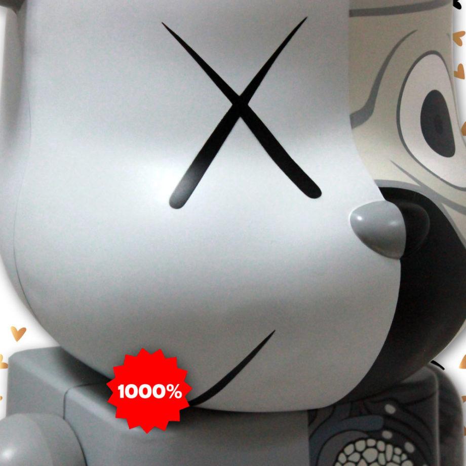 Medicom Toy Kaws Dissected Companion Gray Bearbrick 1000% 2010