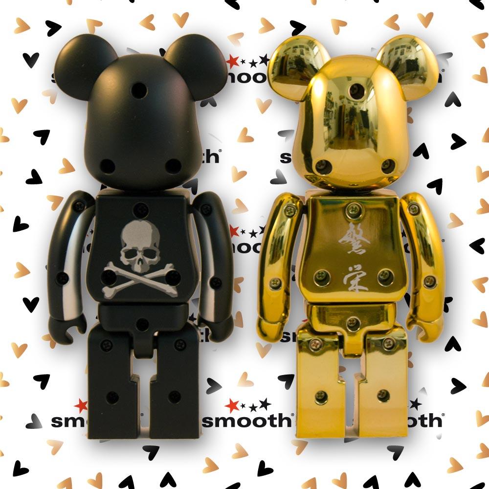 Medicom Toy Chogokin Mastermind Black Gold Set - Bearbrick 200%