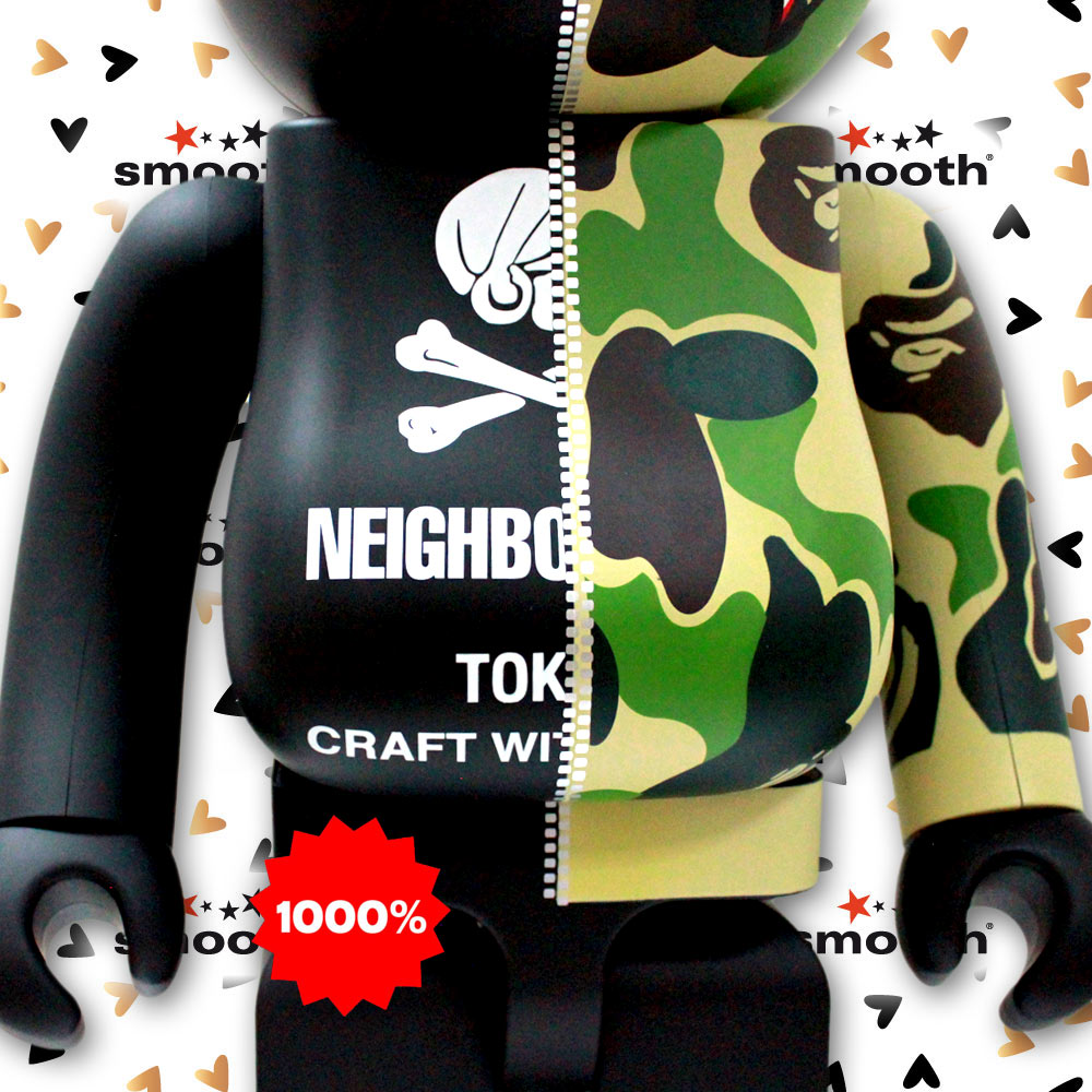 38820b17 Medicom Toy Bape x Neighborhood Bearbrick 1000% Limited Edition 2019.  Extremely hard to find