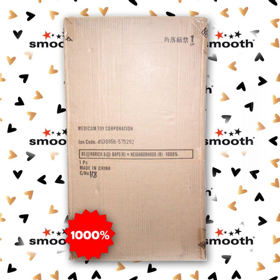 Medicom Toy Bape x Neighborhood Bearbrick 1000% Limited Edition 2019. Extremely hard to find A Bathing Ape x Nehigborhood Bearbrick 1000%