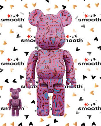 Medicom Toy Keith Haring #2 Bearbrick Set 100% + 400%