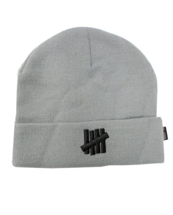 Undefeated 5 Strike Combat UNDFTD Beanie knit hat Grey Heather