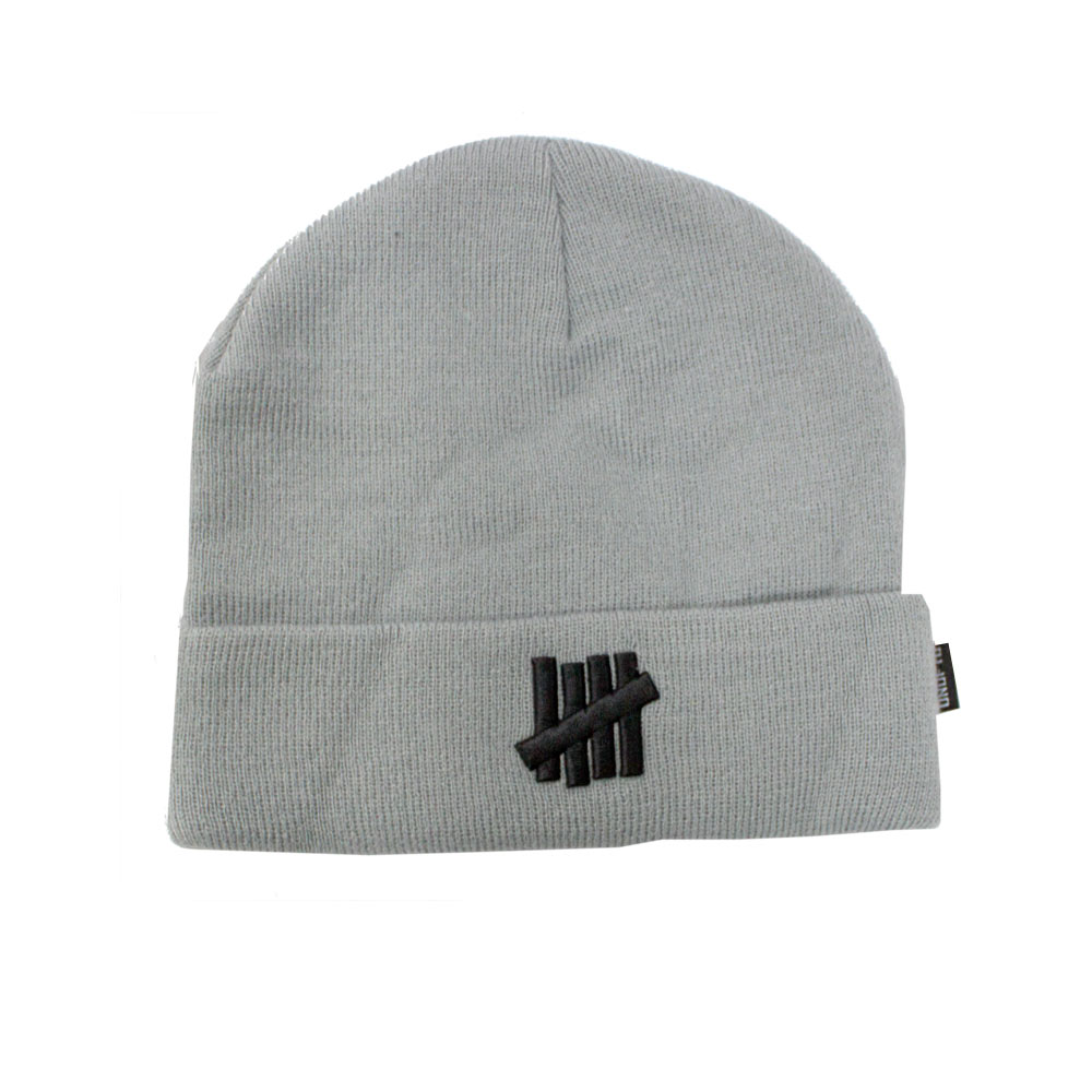 79ea6258 Undefeated 5 Strike Combat UNDFTD Beanie knit hat Grey Heather